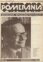 1983, Pomerania : miesięcznik społeczno-kulturalny. Nr 10/1983