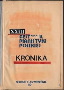 Kronika : 23 Festiwal Pianistyki Polskiej