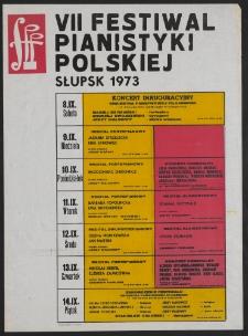 [Afisz] : VII Festiwal Pianistyki Polskiej w Słupsku