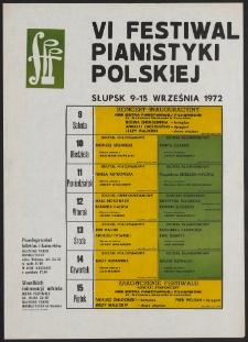 [Afisz] : VI Festiwal Pianistyki Polskiej w Słupsku