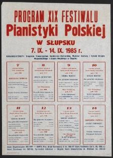 [Afisz] : XIX Festiwal Pianistyki Polskiej w Słupsku