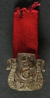 Srebrna Odznaka Odbudowy Warszawy + Legitymacja Nr 510