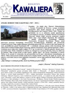 Kawaliera : biuletyn Koła nr 21, 2012, nr 1