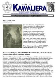 Kawaliera : biuletyn Koła nr 21, 2010, nr 1