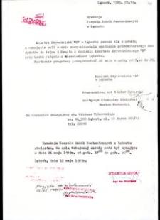 [Pismo do dyrekcji Zespołu Szkół Mechanicznych w Lęborku]