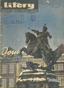 Litery : magazyn społeczno-kulturalny Wybrzeża, 1966, nr 1