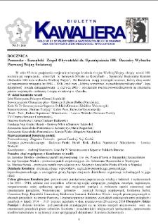 Kawaliera : biuletyn Koła nr 21, 2013, nr 3