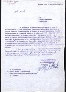 Pismo do Pana Teofila Paziewskiego