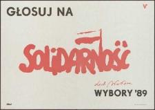 Głosuj na Solidarność : plakat 1