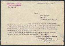 Pismo do pana Jerzego Lisieckiego