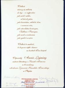 Starosta Słupski [list gratulacyjny z okazji jubileuszu 95.urodzin]