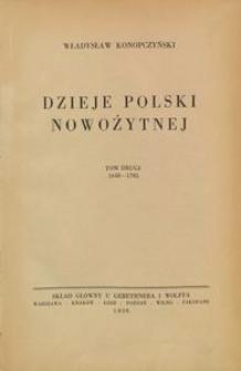 Dzieje Polski nowożytnej : T. 2, 1648-1795