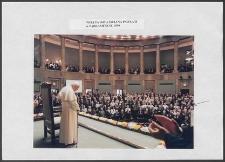 Kartka z albumu - Wizyta Ojca Św. Jana Pawła II w Parlamencie 1999