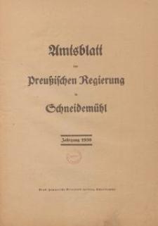 Amtsblatt der Preuβischen Regierung in Schneidemühl 1939